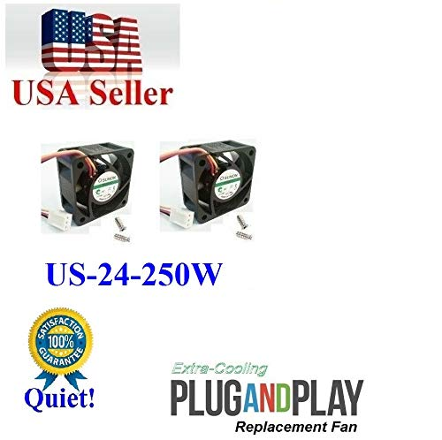 2X Quiet Version Fans for Ubiquiti UniFi Switch US-24-250W only 13~18dBA Noise Each Fan, Best for Home Networking!