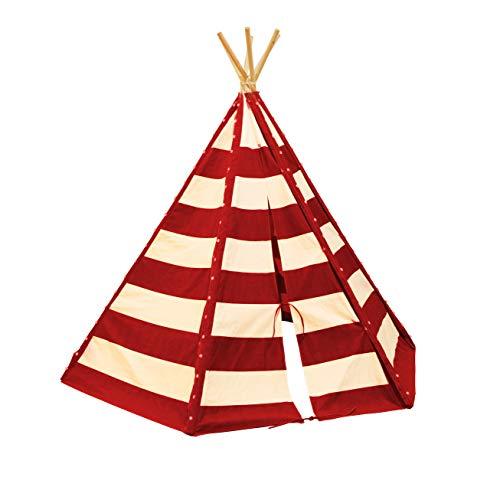 Lumo Tipi Tent met verlichting Rood/Wit