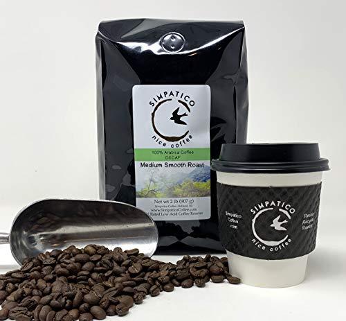 Simpatico Low Acid Coffee - DECAF - Medium - GROUND (2 pound bag)