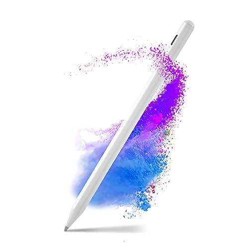 Penna Touch per i-Pad 2018-2021, Penna per i-Pad Magnetica con Inclinazione, Indicatore di Alimentazione, Palm Rejection per i-Pad 8 7 6, i-Pad Pro 11   12,9  , i-Pad Mini 5, i-Pad Air 4 3