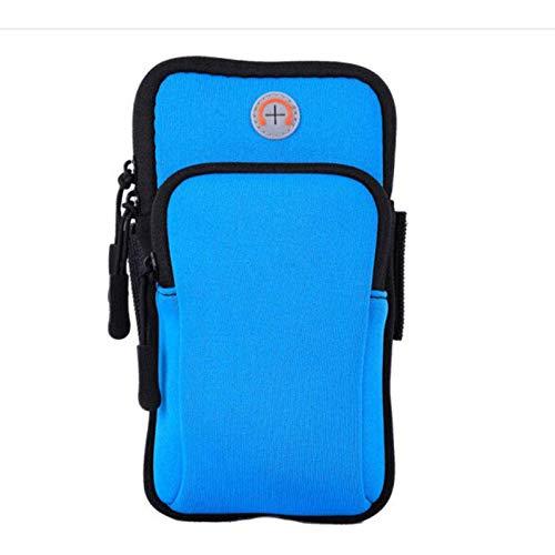 N-B Fitness Arm Bag Hombres y Mujeres Sports Arm Bag Outdoor Waterproof Arm Bag Running Teléfono móvil Arm Bag Storage Funda Protectora para iPhone 1111 Prox XS Max876Plus Galaxy S10S9S8Plus