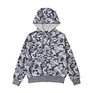 BT21 Official Merchandise by Line Friends – Character Camouflage Zip Up Hoodie Sweater for Men and Women, Parent