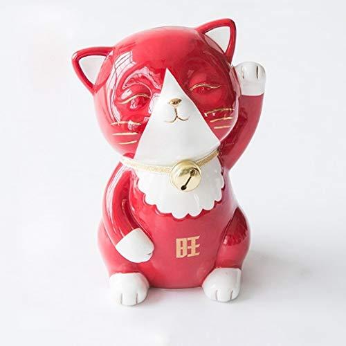 Contador Digital de Hucha Tentar el gato de la batería guarra de cerámica pintada a mano del banco caja de monedas muchacha de los niños Kid regalo creativo decoración de escritorio Banco de Dinero