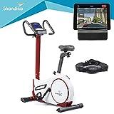 skandika Ergometer Morpheus, Fitnessbike, Heimtrainer mit Steuerung und Street View Funktion,...