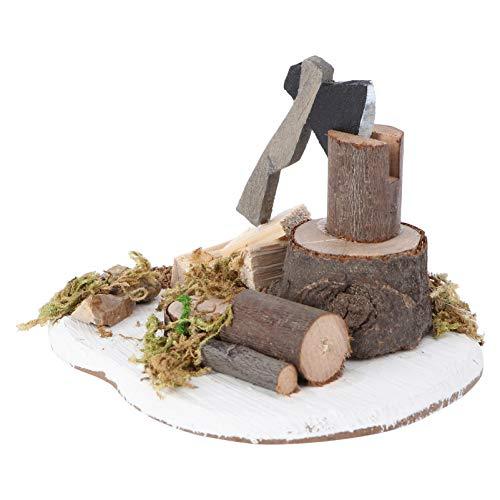 TOYANDONA Miniatur Gartenfiguren Mini Outdoor Axt Brennholz Dekoration Fee Gartenmöbel Mikrolandschaft Spielzeug Puppenhaus Zubehör