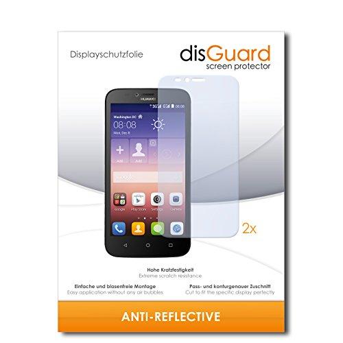 disGuard® Bildschirmschutzfolie [Anti-Reflex] kompatibel mit Huawei Y625 [2 Stück] Entspiegelnd, Matt, Antireflektierend, Extrem Kratzfest, Anti-Fingerabdruck - Panzerglas Folie, Schutzfolie