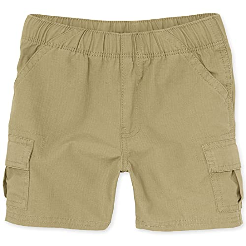 The Children's Place Baby Boys and Toddler Boys Pull On Cargo Shorts, Flax, 5T