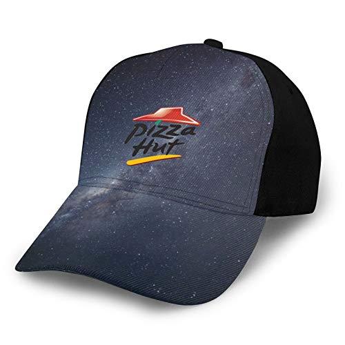 HASIDHDNAC Pizza Hut Men's Woman's Baseball Cap Comfortable Sport Cap High-End Hat Black