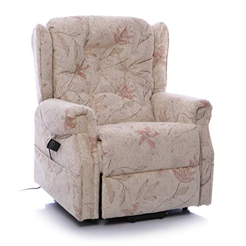 Morris Living The Oldbury Riser Recliner/Lift & Tilt Chair, Beige Fabric with USB Charging