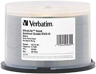 Verbatim DVD-R 4.7GB 8X UltraLife Gold Archival Grade - Branded Surface & Hard Coat - 50pk Spindle