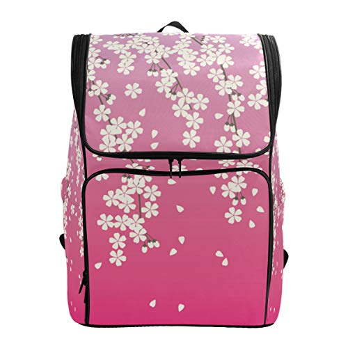 Mokale Primavera Sakura Japonés Patrón Transparente Vector,Mochila Bolsa de Viaje Senderismo Colegio Estudiante Escuela de Viaje para Hombres o Mujeres