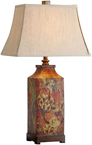 popular Uttermost popular 27678 Colorful Flowers wholesale Lamp, Burnished Walnut sale