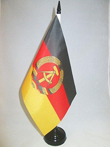 AZ FLAG TISCHFLAGGE DEUTSCHE DEMOKRATISCHE Republik 21x14cm - DDR TISCHFAHNE 14 x 21 cm - flaggen