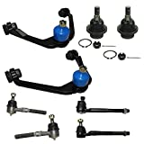 Complete 8-Piece 2WD Only Front Suspension Kit Includes Upper Control Arms, Lower Ball Joi...