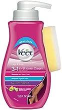Veet Botanic Inspirations In Shower Cream, 13.5 fl Oz, for Legs & Body