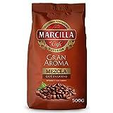 MARCILLA café gran aroma mezcla en grano paquete 500 gr