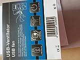 PEARL USB Lüfter: Mini-USB-Tischventilator, Vollmetall, neigbar um 360°, 2,5 W, Ø 15 cm (Ventilator mit USB Anschluss)