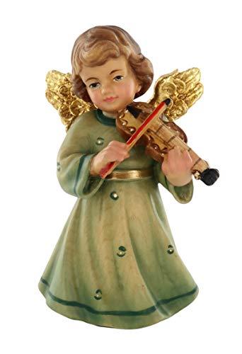 Ferrari & Arrighetti Engel mit Geige Statuette aus handbemaltem Holz, 10 cm hohe Reihe, Sissi Engel Kollektion - Demetz Deur