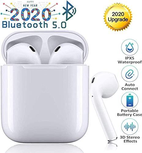 Auriculares Bluetooth 5.0 Auricular Inalámbrico Control Táctil con Graves Profundos In-Ear Auriculares Bluetooth con Caja de Carga Rápida IPX5 Impermeables,para Android/iPhone/Airpods/Samsung