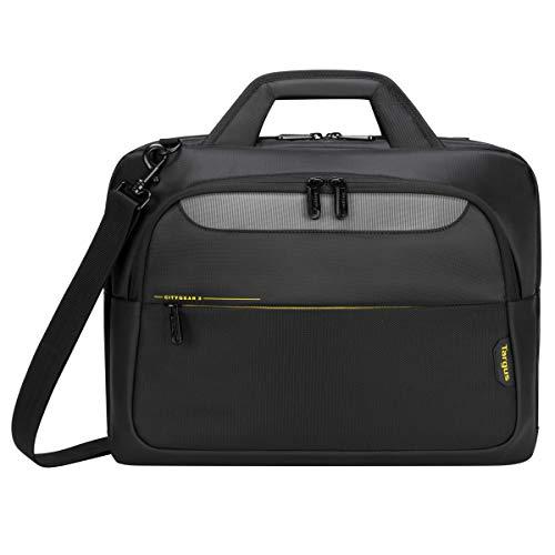 Targus CityGear Topload Notebook-Tasche, schlanke Laptoptasche für 14 - 15,6 Zoll, Umhängetasche mit Dome Protection System, ideale Tasche für Pendler – Schwarz, TCG460GL