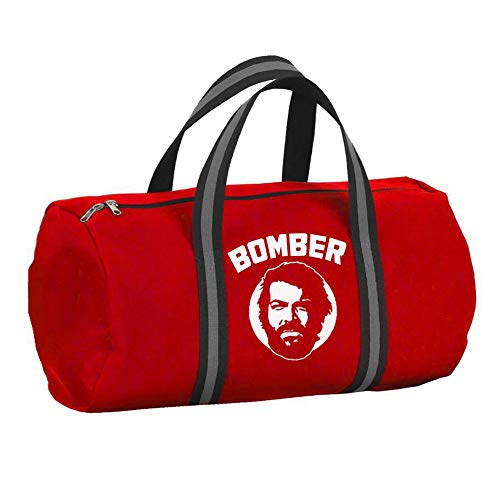 Bud Spencer Borsone Bomber di colore rosso