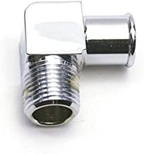 Chrome 90 Degree Heater Hose Fitting, 5/8 Inch Hose