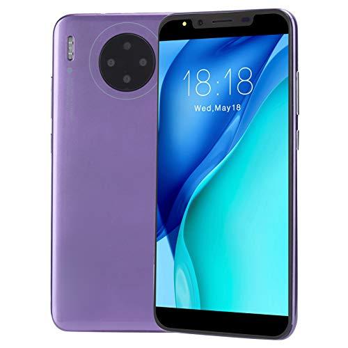 Teléfono Movil Libres 3G, Android Celulares Desbloqueados, HD Pantalla de 5.72 Pulgadas, 512MB + 4G, 2MP + 2MP, Dual SIM, Face ID+Fingerprint [Clase de eficiencia energética A+++](Purple)