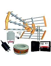 Kit Antena TECATEL 18DB + Amplificador 30dB + Fuente + Filtro 5G + Rollo 20M TELEVES
