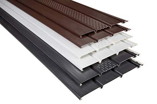RAINWAY Kunststoffpaneele & Zubehör - Verkleidung von Dachüberständen, Decken- & Wandflächen - (Abschlussprofil anthrazit) U-Profil Balkon Deckenpaneel