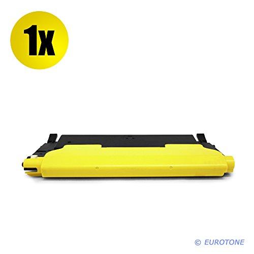 Eurotone Toner Kartusche für Samsung CLP 320 325 CLX 3180 3185 ersetzt gelbe CLT-Y4072S Patrone Alternative