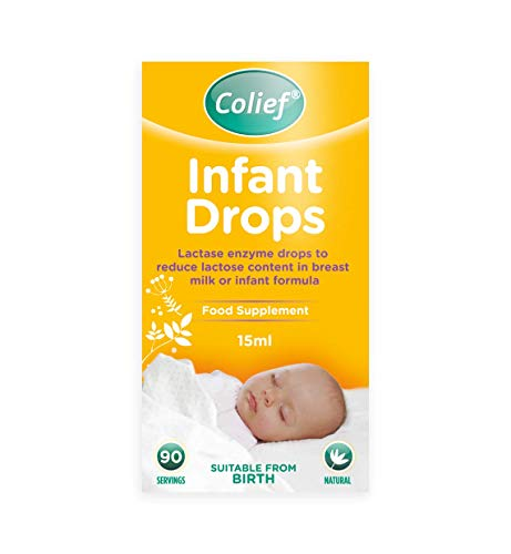 Colief - Infant Drops (15ml) - Lactase Enzyme Drops to Reduce Lactose Content in Breast Milk and Infant Formula