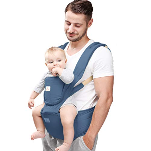Baby Carrier Hip Seat 360 Ergonomic 6-in-1 Convertible Hipseat Baby Carrier with Breastfeeding Nursing Cover for All Seasons, Toddler Tush Stool, Baby Wrap Carrier Front and Back for Shopping