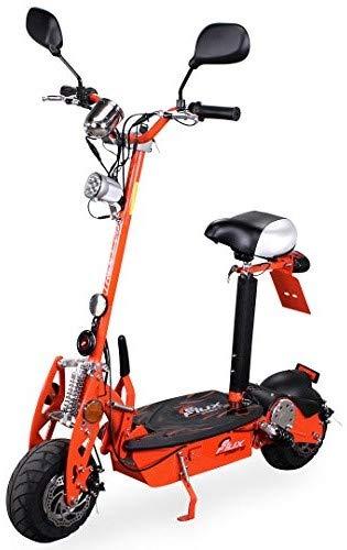eFlux Street 20 Elektroroller Scooter - 500 Watt Motor - Scheibenbremsen - LED Scheinwerfer - Straßenzulassung (Orange)