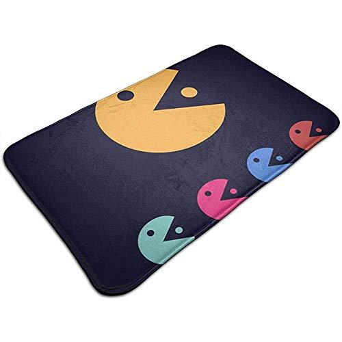 Liumt Mr Pacman Icon Template Alfombra De Baño De Espuma Visco Alfombras De Baño De Franela Alfombra De Baño De Terciopelo para Pisos De Ducha, Decoraciones De Baño