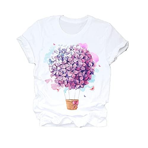 shirts Las mujeres 2020 verano manga corta sueño pluma moda impresión señora T top de las señoras para mujer gráfico femenino t t