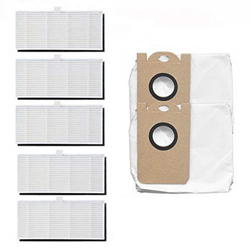 Nrpfell Bolsa para Polvo + Kit de Repuesto de Filtro para Aspiradora Robot M7 MAX, Piezas de Limpieza del Hogar, 7 Piezas