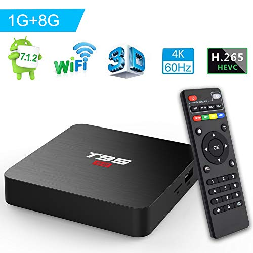 Android Box, TUREWELL T95 S2 Android 7.1 TV Box Amlogic S905W 1GB RAM 8GB ROM Quad core 64 Bits 2.4GHz WiFi Smart TV Box 4K Media Player