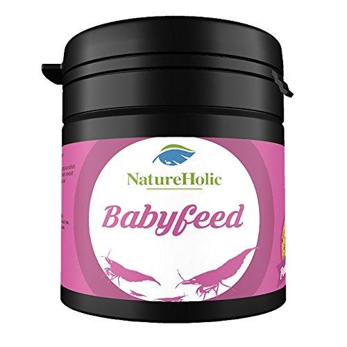 NatureHolic - Babyfeed Aufzuchtgarnelenfutter - Aufzucht Futter für Garnelen im Aquarium – 30 g