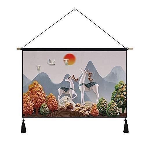 Tokyia. Studio del Panno del Tessuto Moderno Minimalista Tapestry Living Room Divano Sfondo Parete Decorativo Hanging Cloth Camera Vita Felice (Color : White)