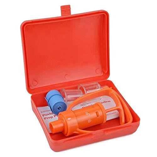 Venom Extractor Pump Kit Schlangenbiss Kit Bienenstich Kit Erste Hilfe Set für Outdoor Backpacking Camping Wandern