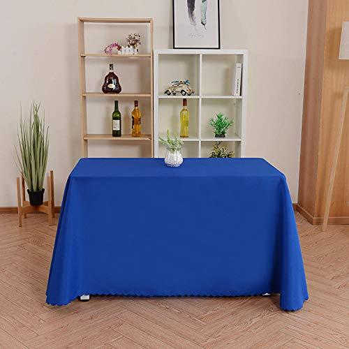 Yinaa Tischläufe Tischläufer Tischtuch Tischwäsche Einfache Volltonfarbe Rechteckige Tischdekoration Tafeltuch Blau...