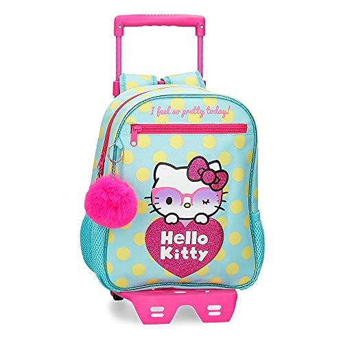 Hello Kitty Pretty Glasses - Zaino prescolare adattabile a trolley verde 23 x 28 x 10 cm poliestere 6,44 l