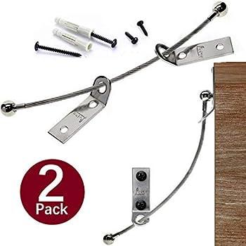 OFNMY 12 Kits Bloque Placard B/éb/é Boucle Anti-Bascule en Nylon Ancre Anti-Retour Dispositif Anti-Renversement de Meubles pour la Protection de B/éb/é et des Animaux Domestiques