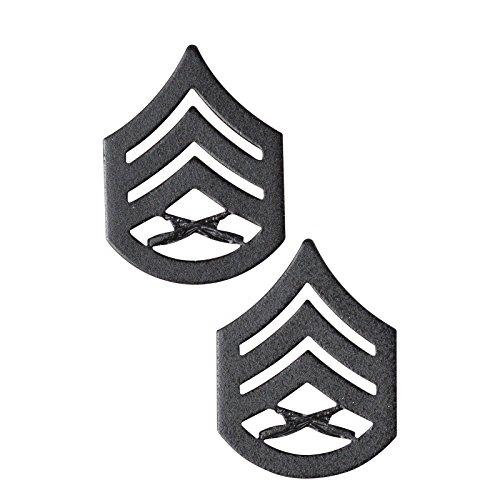 USMC Black Enlisted Rank Insignia (SSgt)