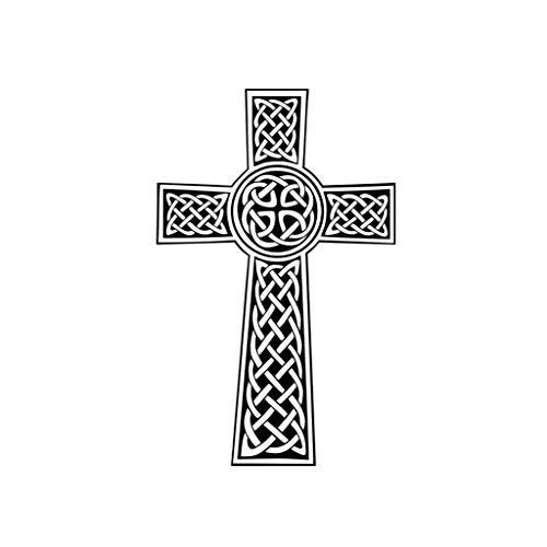 TENNER.LONDON Set of 5 Celtic Cross Iron on Screen Print Fabric Applique Machine Washable Transfer Christ Cross