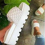 DZQQ 2021 nuevos Zapatos de cuña de Verano para Mujer, Sandalias de tacón Alto con diseño de Nudo de Lazo, Sandalias de PVC para Mujer, Grandes