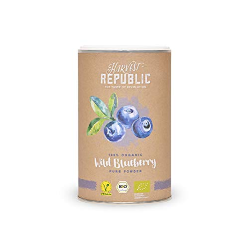 Harvest Republic 100% Organic Wild Blueberry Pure Powder, 125 g