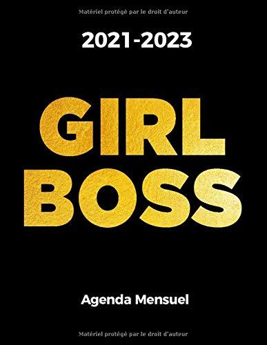 2021-2023 GIRL BOSS Agenda Mensual sur 3 Ans: Un Agenda de 36 Mois avec un Mois par Page, Taille d'une lettre : Letter size; 8,5 x 11 pouces ; 21,59 x 27,94 cm