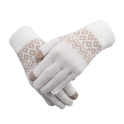 MENGCI 1 Paar Unisex Handschoenen Mode Vrouwen Mannen Winter Warme Handschoenen Voor Telefoon Scherm Handschoenen Meisjes Stretch Wol Gebreide Wanten Accessoires