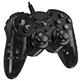 Game Controller for PC PS3,Wired PS3 Controller for Windows 7/8 /8.1/10/ Laptop, TV Box Playstation 3 USB Steam Gamepad Joystick Joypad with Dual Vibration Feedback Turbo Trigger
